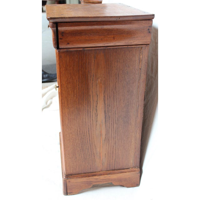 Louis Philippe Louis Phillipe 1840 Oak Commode For Sale - Image 4 of 8