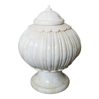Natural Bone Lidded Vessel