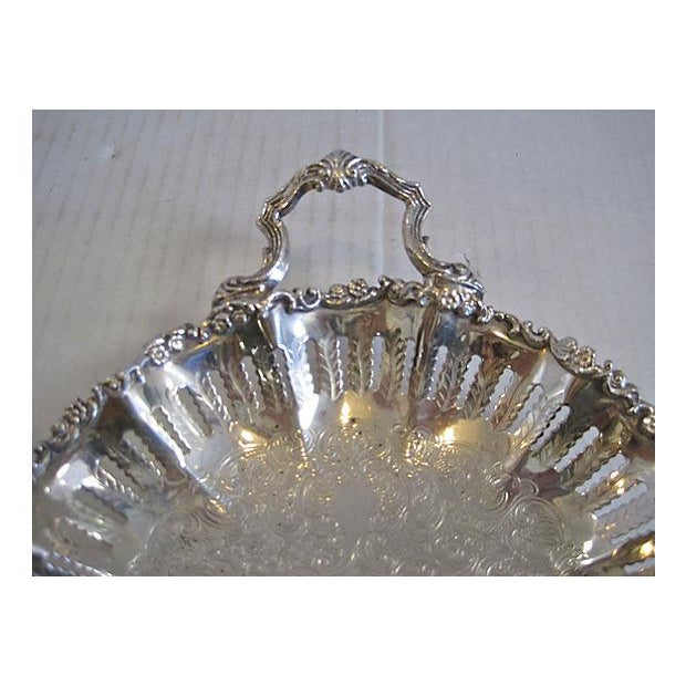 English Silver Handled Pierced Dish - Image 4 of 6