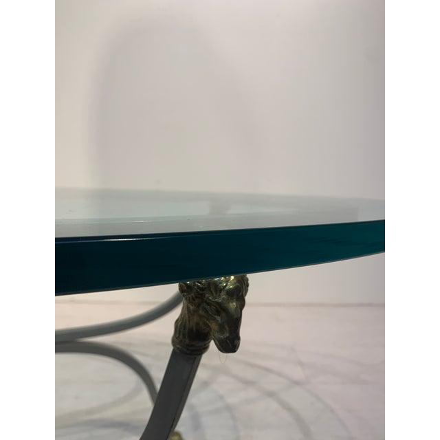 1960s Italian Oval Ram's Head & Hoof Coffee Table For Sale - Image 4 of 10