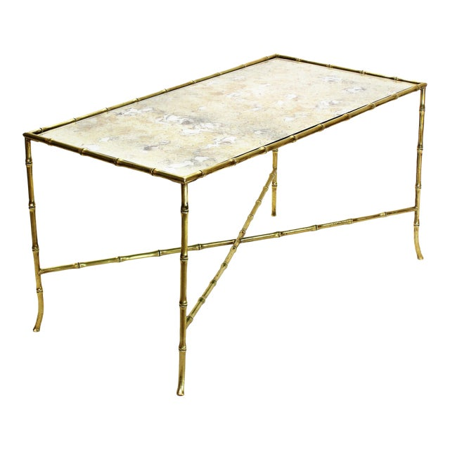 Maison Bagues French Brass Bamboo Coffee Table - Image 1 of 11