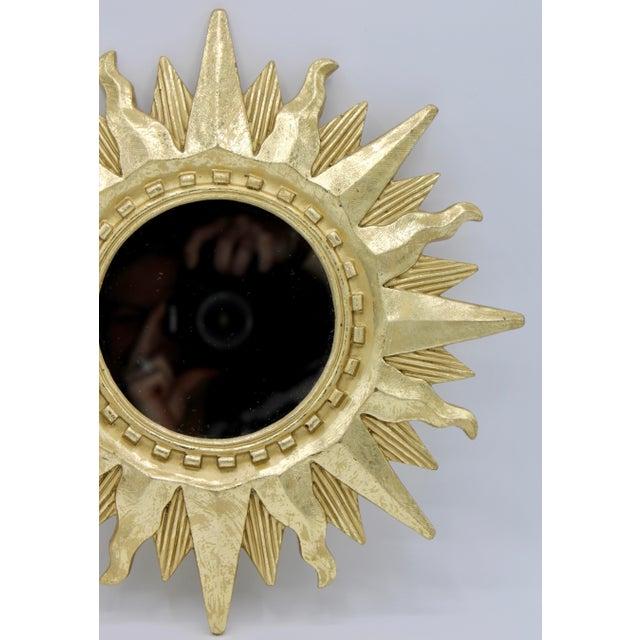 Mid Century Modern Gold Sunburst Mirror For Sale In Tulsa - Image 6 of 13