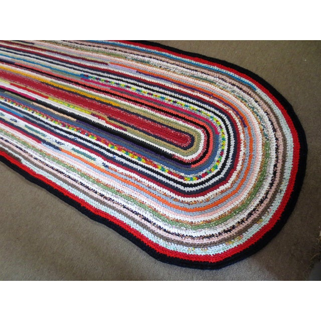 Textile Modern Braided Rag Rug- 4′ × 20′6″ For Sale - Image 7 of 13