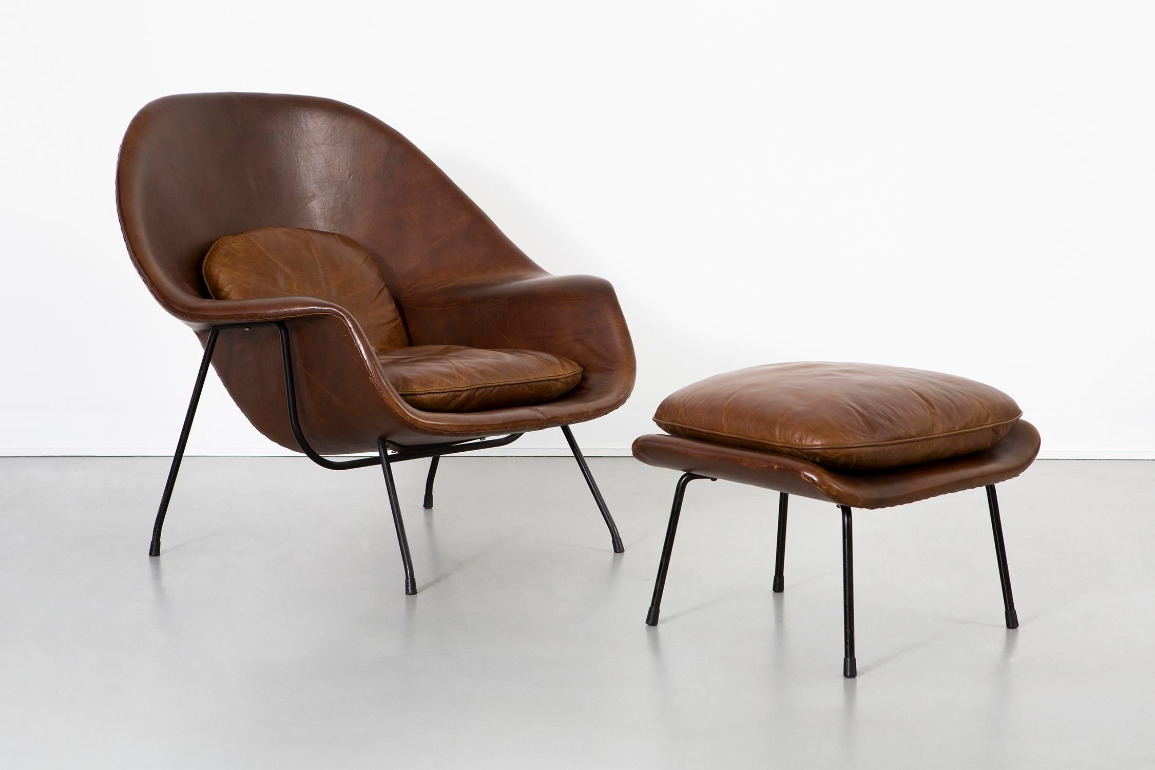 Eero Saarinen For Knoll Womb Chair + Ottoman For Sale   Image 13 Of 13