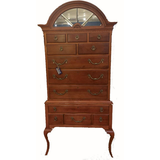 1950s Traditional Lexington Wooden Highboy For Sale - Image 13 of 13