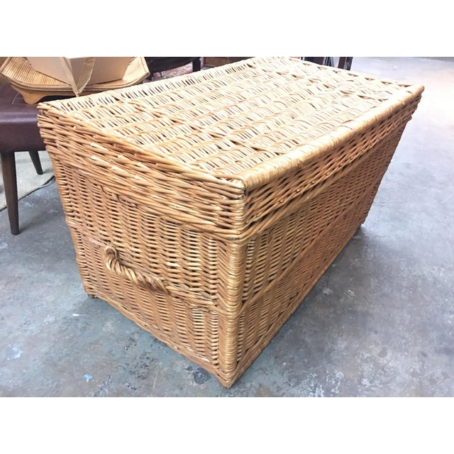 French Wicker Trunk For Sale - Image 4 of 7