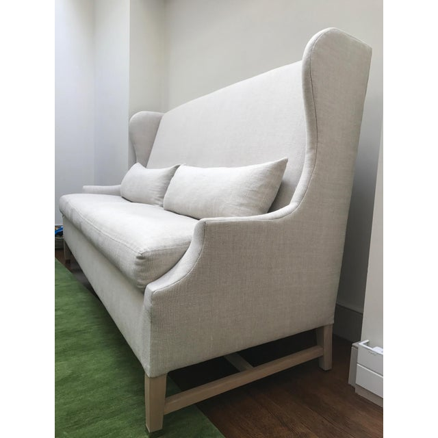 Verellen High Back Belgium Linen Sofa - Image 3 of 3
