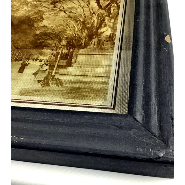 2010s Rustic Framed Reversed Screen Prints on Glass - a Pair For Sale - Image 5 of 7
