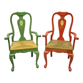 Vintage Queen Anne Style Chairs-A Pair For Sale