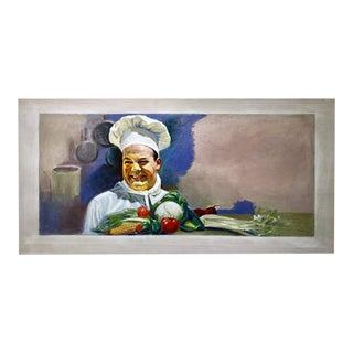 American School Illustration : Happy Cook, Ca.1940s. For Sale