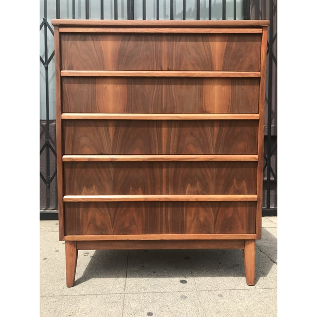 Just in is this rad Mid Century Highboy by Dixie fully restored, with walnut and oak accents this boy serves as a great...