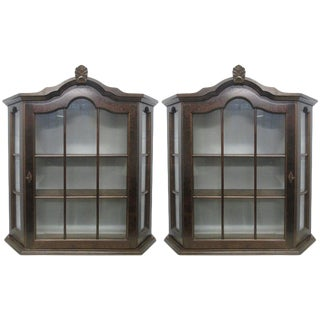 Pair of Hanging Cabinets For Sale