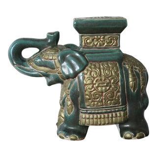 Vintage Chinoiserie Elephant Figurine For Sale