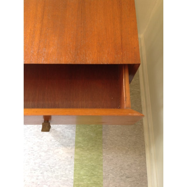 Ashley Hicks Steel & Teak Nightstand - Image 4 of 10
