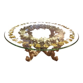 Baroque Phyllis Morris Grande Baroque Wood and Glass Dining Table For Sale