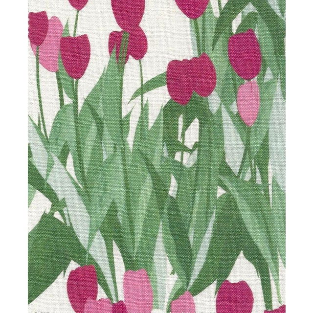 Textile In Bloom Fabric in Spinel Red, Sample For Sale - Image 7 of 7