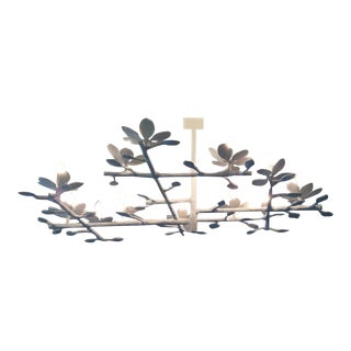 Plaster Garden Chandelier (White-1l-7l) For Sale