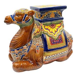 Vintage Camel Garden Stool For Sale