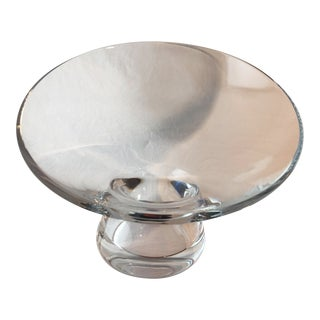 Mid 20th Century Modern Baccarat Crystal Asymmetrical Centerpiece Bowl For Sale
