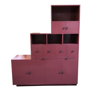 Custom Tansu Style Lacquered Storage Cabinet For Sale
