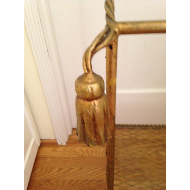 Vintage Italian Gold Leaf Towel Stand - Image 4 of 4