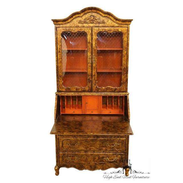 Late 20th Century Late 20th Century Vintage Jasper Cabinet Secretary Desk For Sale - Image 5 of 13
