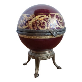 Antique Cloisonne Jewelry Ball For Sale