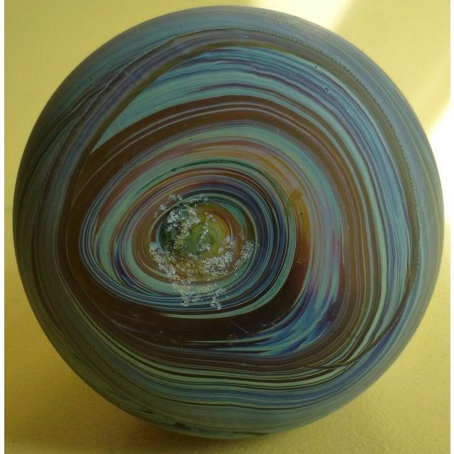 Mid Century Studio Art Glass Vase For Sale - Image 9 of 13