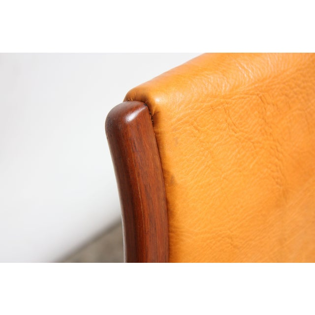 Tan Pair of Swedish Teak and Leather 'Lamino' Chairs by Yngve Ekström For Sale - Image 8 of 13