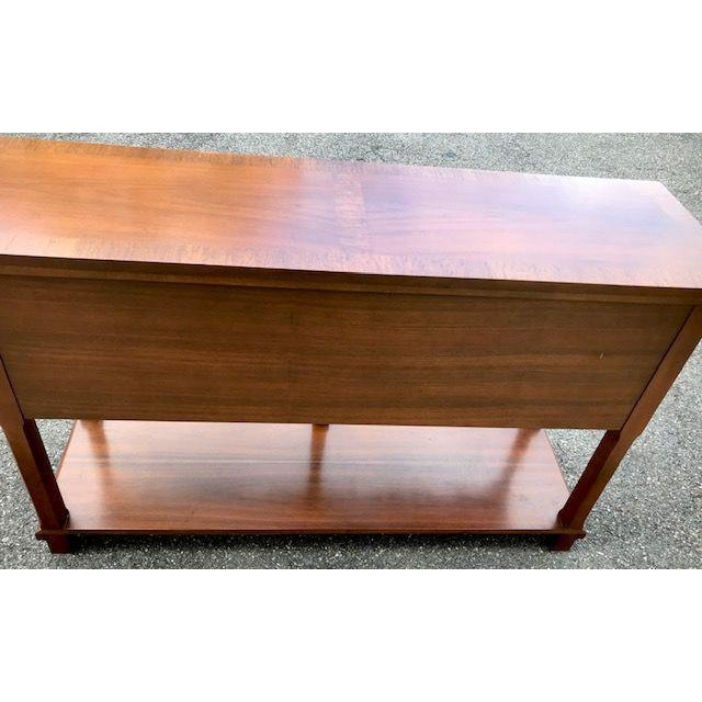 Late 20th Century Baker English Style Inlaid Console Table For Sale - Image 5 of 10