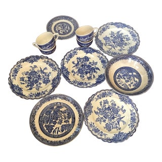 Blue & White Transfer-Ware Dinnerware