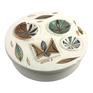 1950s Sascha Brastoff California Pottery Covered Dish For Sale