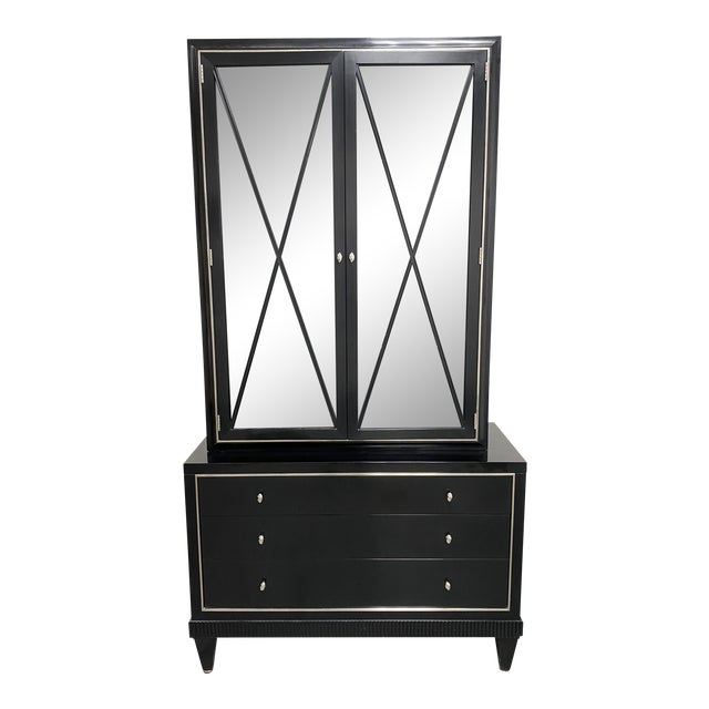 Barbara Barry Baker Furniture Glass Front Curio Cabinet For Sale