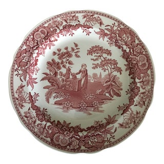 Mid 19th Century Antique Spode Collection Plate For Sale