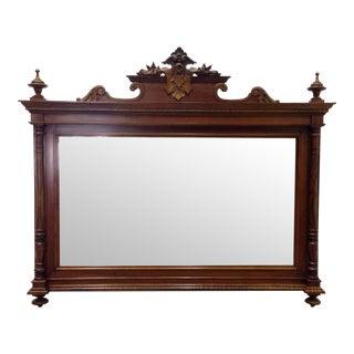 George IV Style Walnut Rectangular Top Mirror