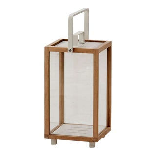 Cane-Line Lighthouse Lantern, Small, Teak and White For Sale