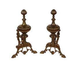 Image of American Classical Andirons and Chenets