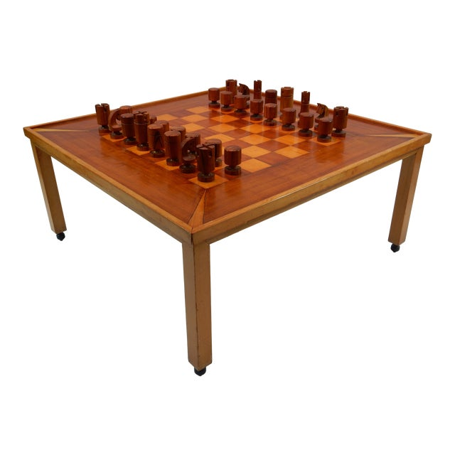 Vintage Mid-Century Modern Chess / Game Table by Lane For Sale