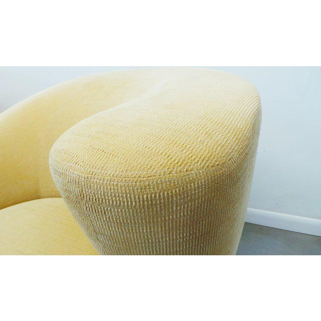 """1970s Post Modern Vladimir Kagan for Weiman Swivel """"Nautilus"""" Corkscrew Club Chairs- A Pair For Sale - Image 5 of 13"""