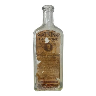 Antique Watkins Apothecary Bottle For Sale