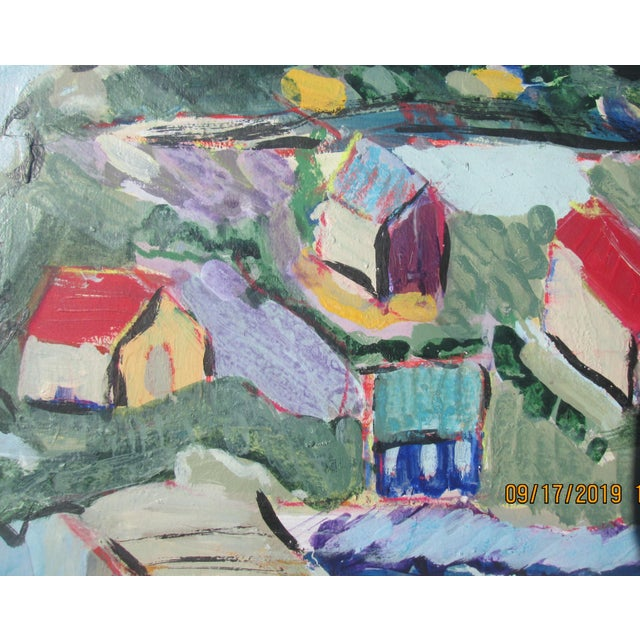 Seaside Village Monterey Contemporary Painting For Sale - Image 4 of 6