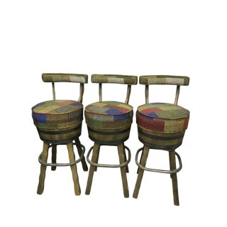 Mid Century Bar Stools - Set of 3
