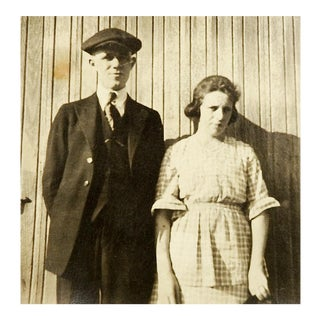 Stoic Couple Portrait Photo, 1915 For Sale