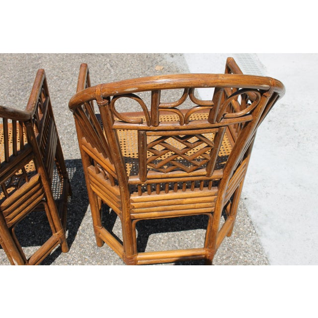 Chinoiserie Bamboo Rattan Brighton Pavilion Chairs With Caning- a Pair For Sale In Cincinnati - Image 6 of 11