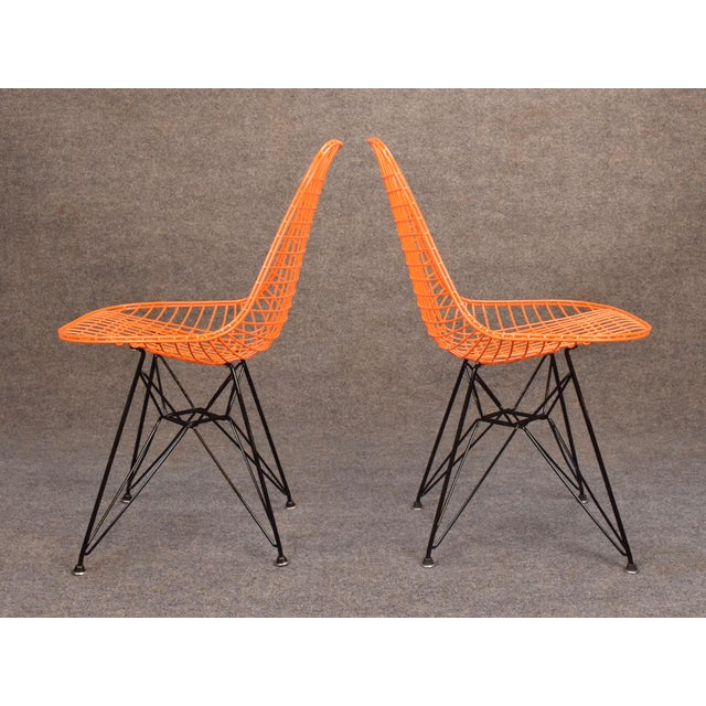 Vintage Herman Miller for Eamer Mid-Century Dkr Orange Chairs For Sale In San Diego - Image 6 of 11