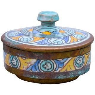 Antique Polychrome Ceramic Box Preview