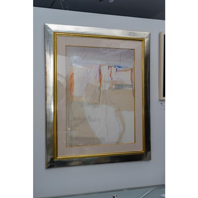 Abstract Mixed Media Painting by American Artist Harold Larsen For Sale - Image 10 of 13
