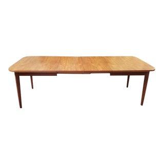 Danish Modern Extending Teak Dining Table C.1960 For Sale