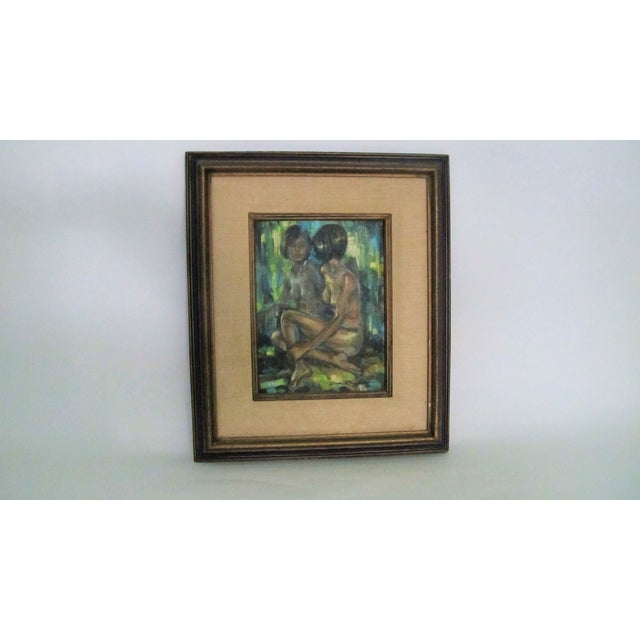 "1960s ""Reflections of a Nude"" Oil Painting - Image 4 of 4"