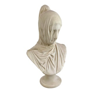 "1996 Museum Reproduction ""The Veiled Nun"" Composite Bust by Austin Prod for Corcoran Gallery of Art For Sale"